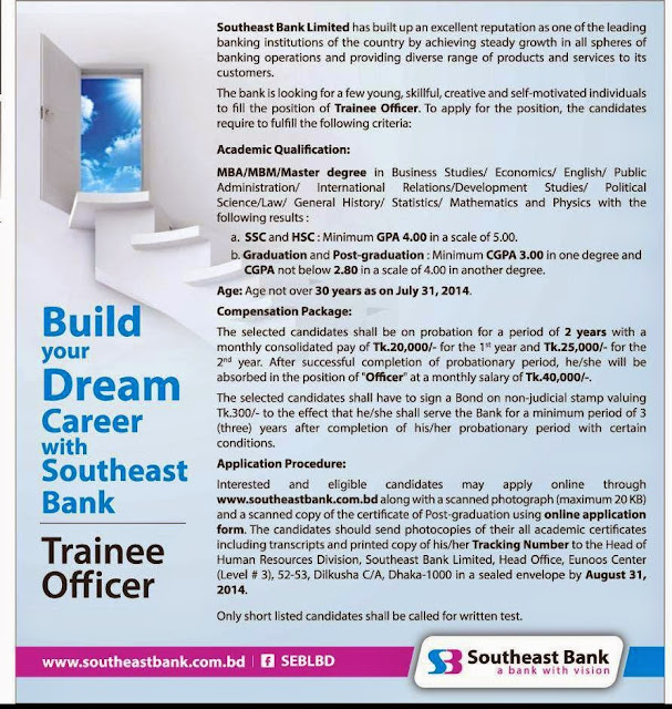 southeast bank job notice