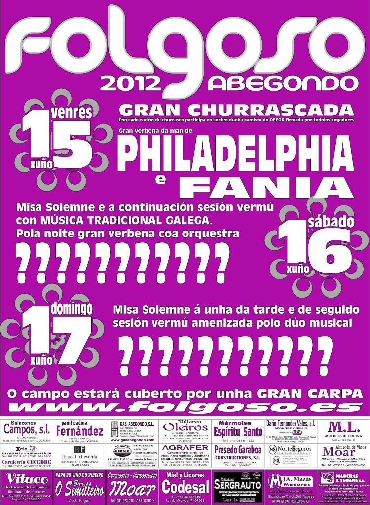 Provisional festas folgoso 2012