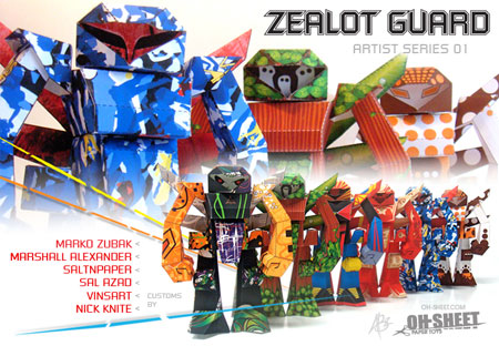 Zealot Guard Paper Toy Artist Series 01