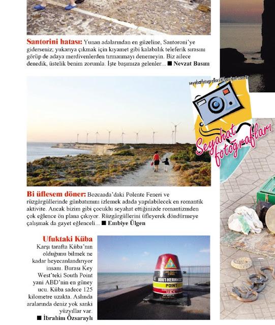 oğluşla resmimizin yayınlandığı Hürriyet Seyahat sayfası