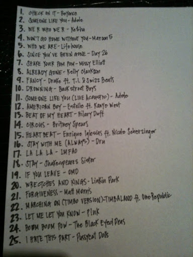 shuffling music list