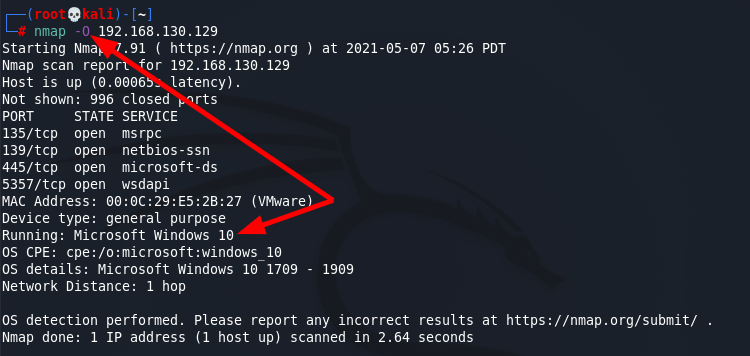 NMAP flags for Operating System and Services  detection Source: nudesystems.com