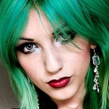 Cabelo colorido - verde