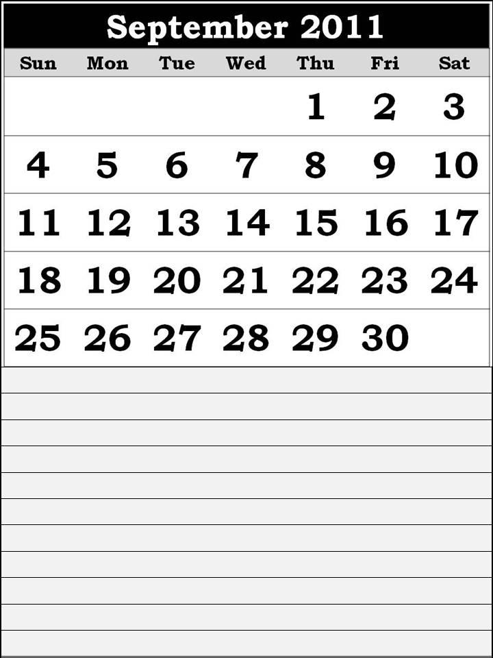 september 2011 printable calendar. Free printable Calendar 2011