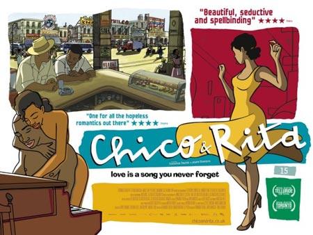 Chico y Rita - película de dibujos animados, dirigida por Fernando Trueba, con dibujos de Javier Mariscal