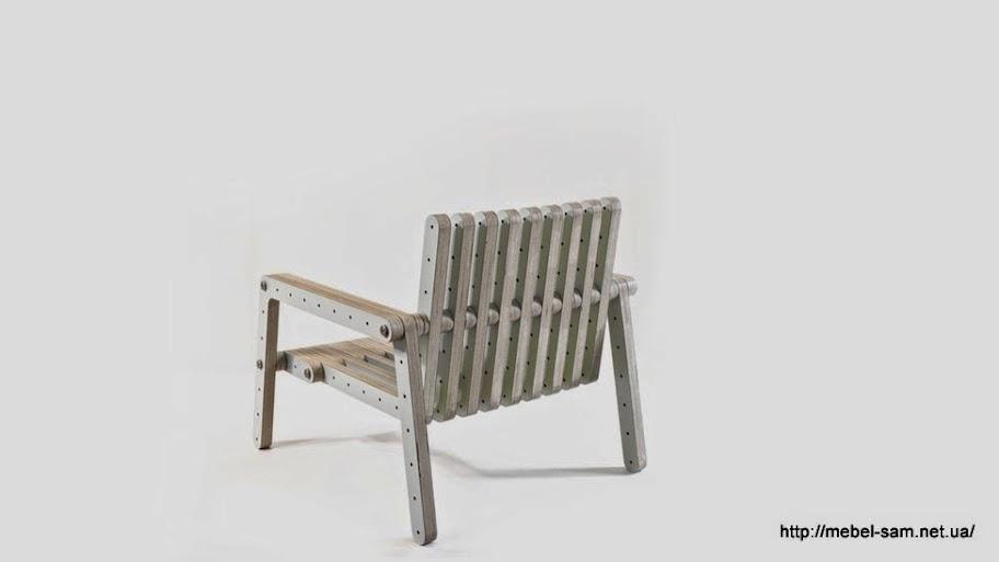 Кресло из фанерных сборных деталей