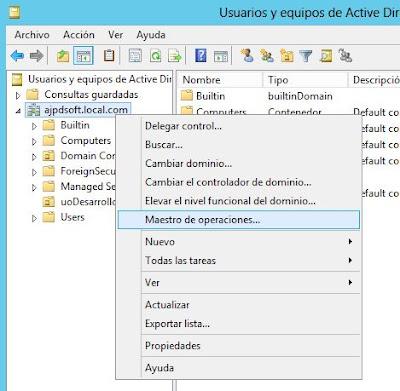 Consultar qué servidor es el controlador principal de dominio en Windows Server 2012