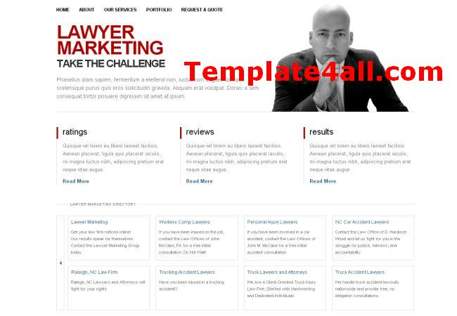 Lawyer Blog Free CSS Website Template