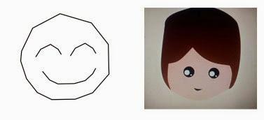 Karya desain pertama saya sebelah kiri, yang kanan buatan siswa saya hanya dalam tiga kali pertemuan