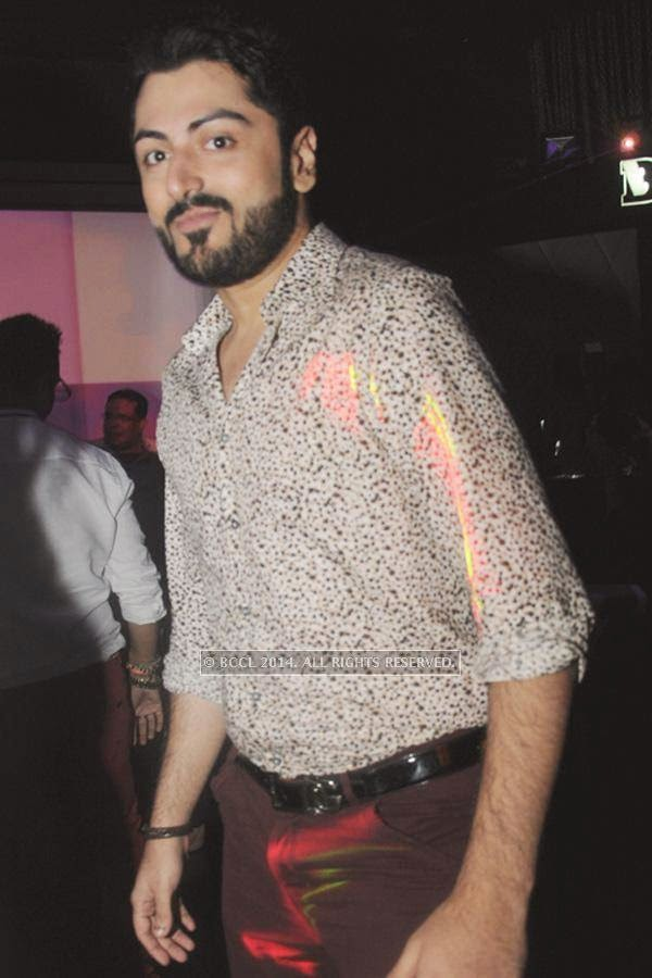 Amit Bhasin during the party, held at BW club, New Friends Colony.<br />