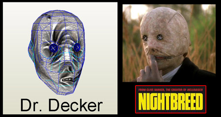 Nightbreed Papercraft Dr Decker Mask