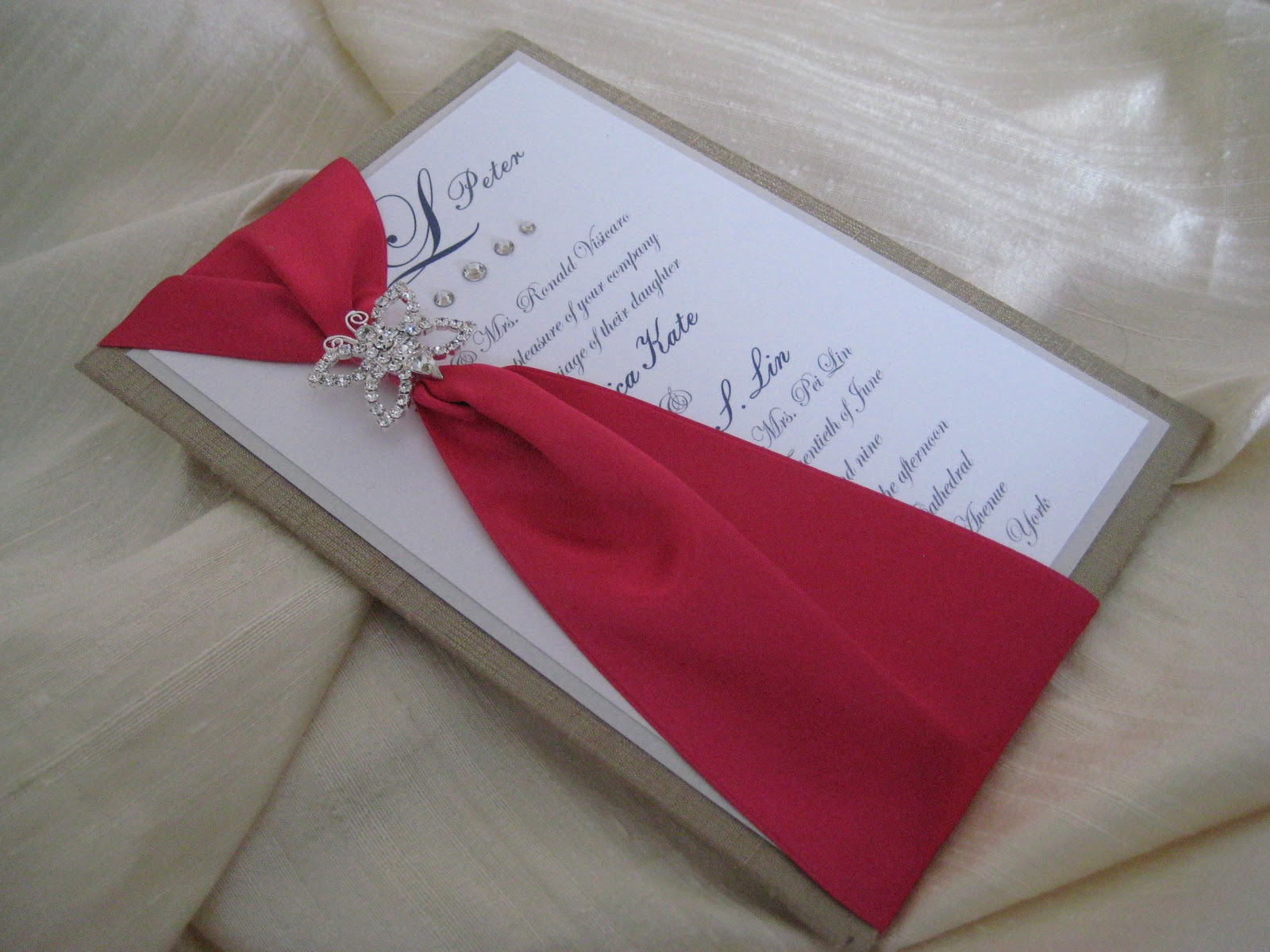 Revelry Invitation Studio Chatter: Love This! New Butterfly Silk Slide!