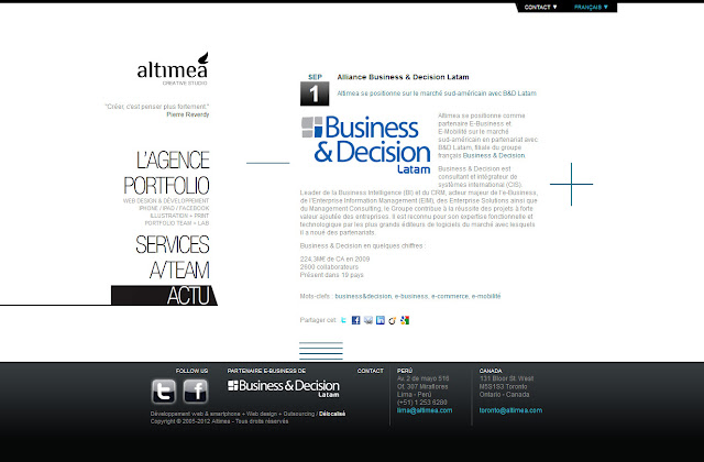 *科技感十足的「翼」Web Design|Agence Web Site 6