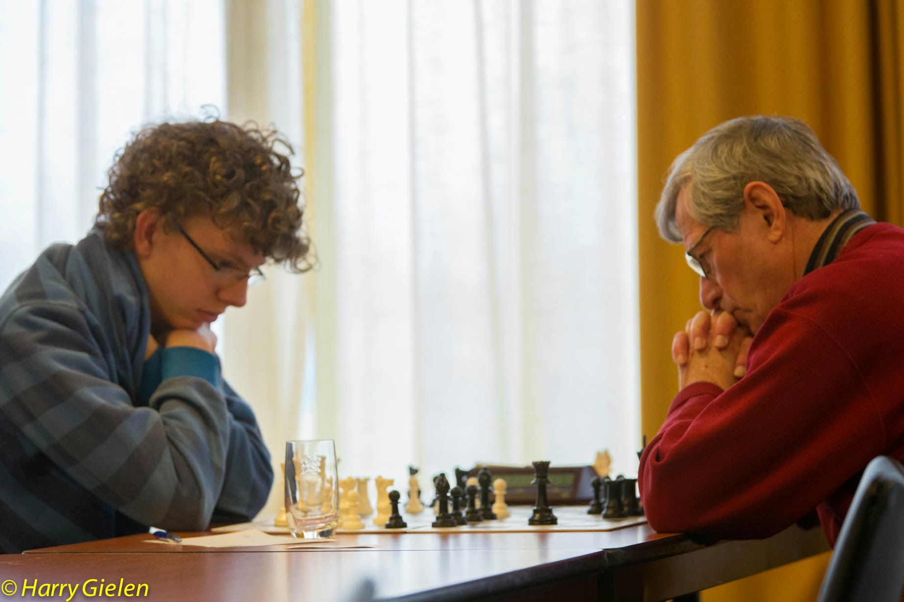 George Scharke tegen Jeljer Dijkstra