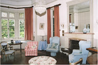 Forest lodge drawing room, bay window