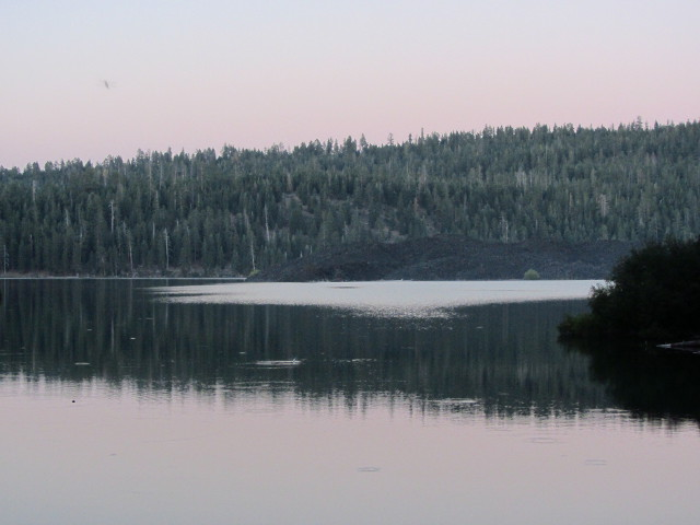 Butte Lake in the twilight