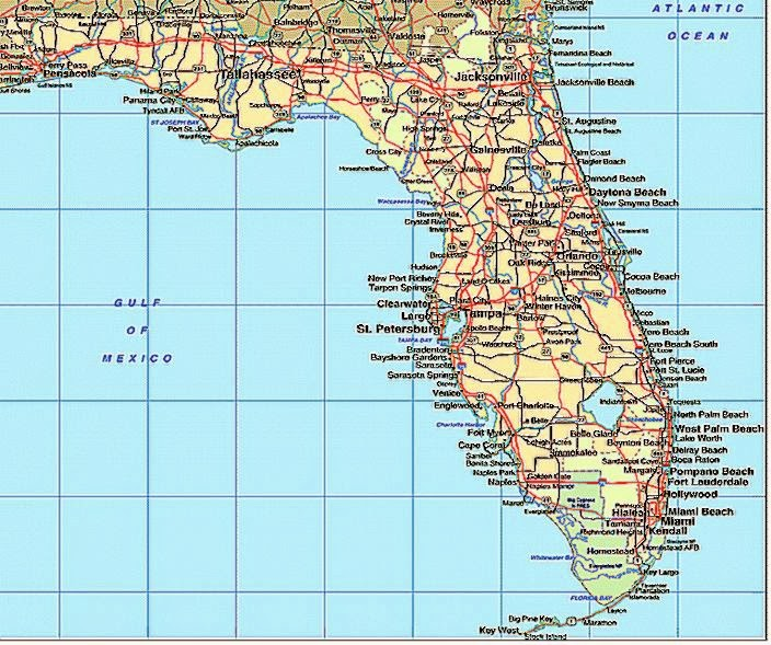 Florida Map By City My Blog - Map of floria