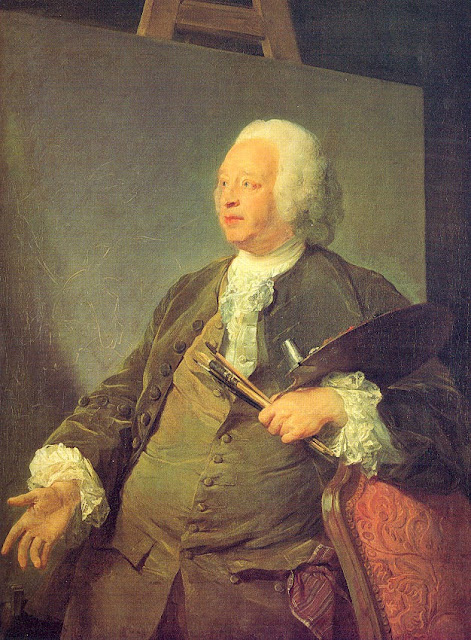 Jean-Baptiste Perronneau - Portrait of the Painter Jean-Baptiste Oudry