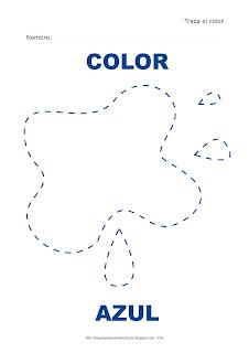 Dibujo para delinear y trazar el color azul