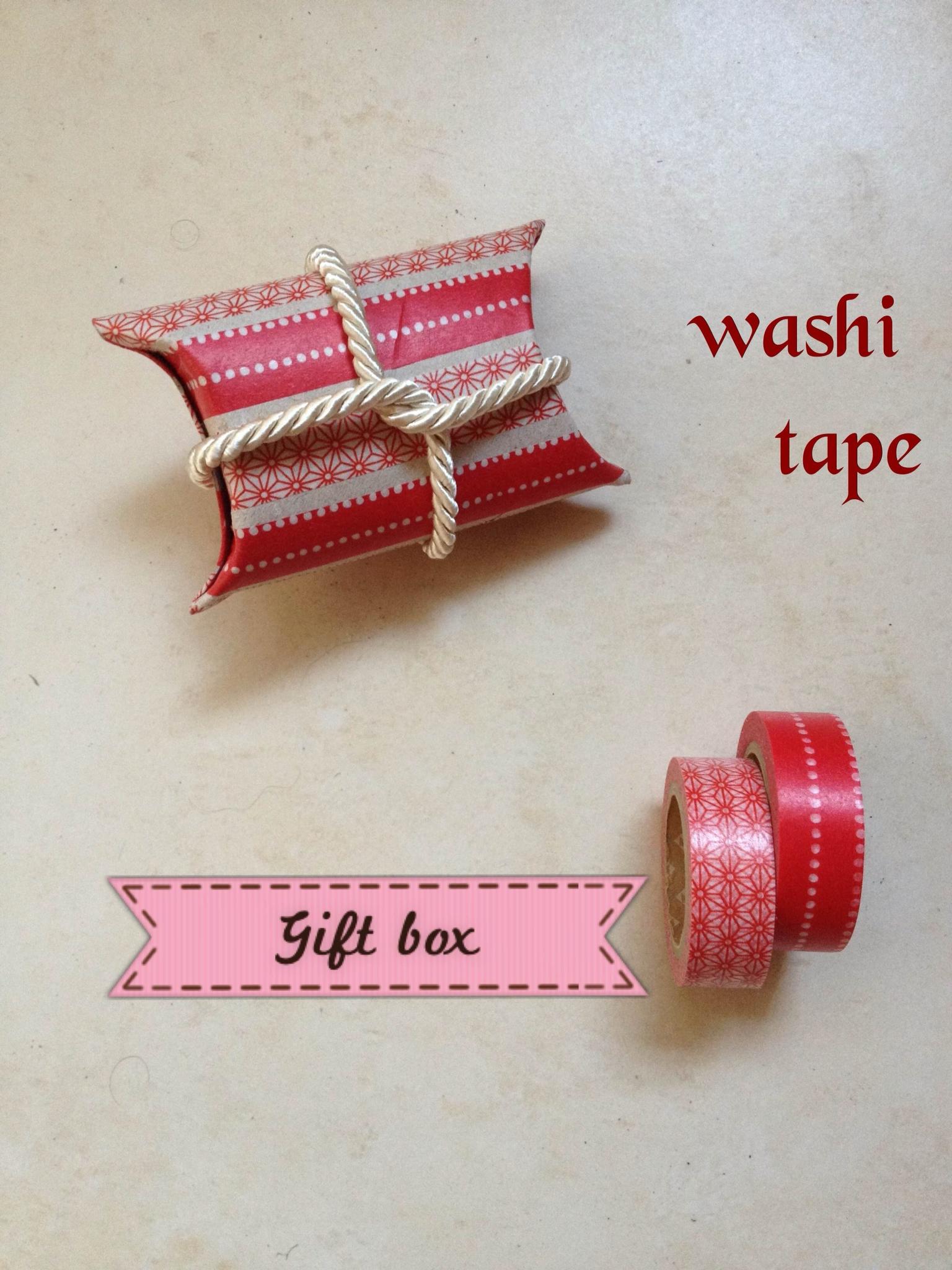 spesso Scatola regalo fai da te con washi tape | Parola di Laura GV14