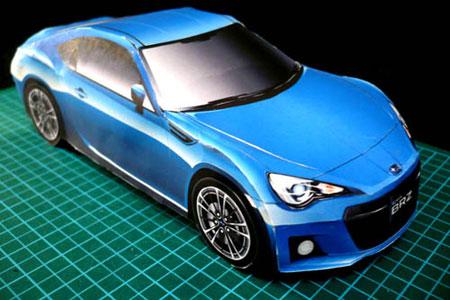 2012 Subaru BRZ Papercraft