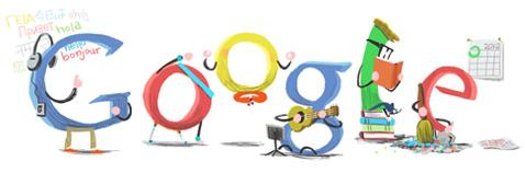 Google Doodle Frohes neues Jahr
