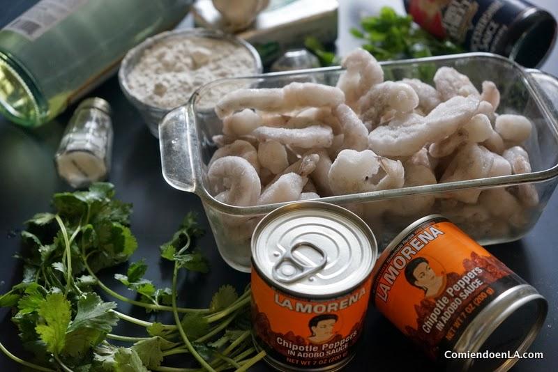 Ingredientes para preparar camarones