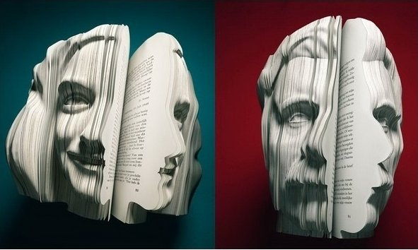 Book Carved Into A Face