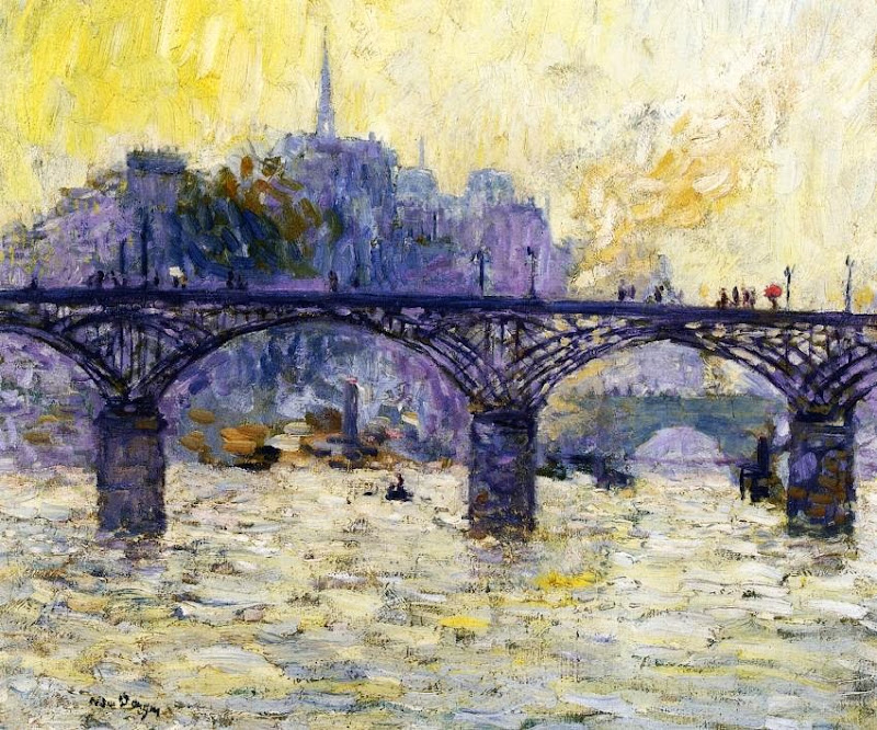 Kees Van Dongen - Paris, Le Pont des Arts.
