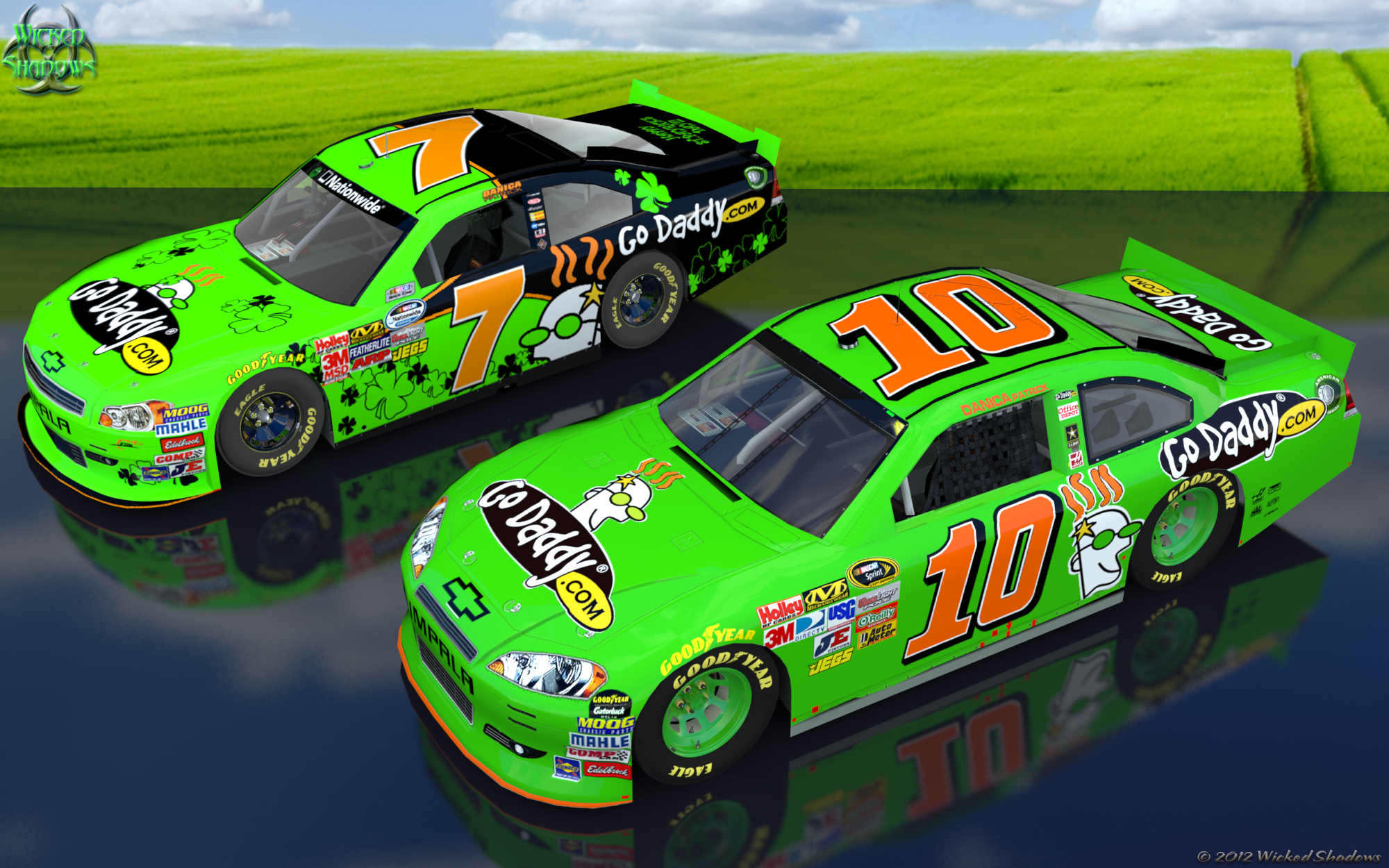 Wallpapers By Wicked Shadows Danica Patrick Dale: Wallpapers By Wicked Shadows: Danica Patrick 2012 Double