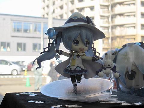 札幌市電 3302号「雪ミク電車」2014Ver 車内展示物 初音ミク 魔法少女Ver