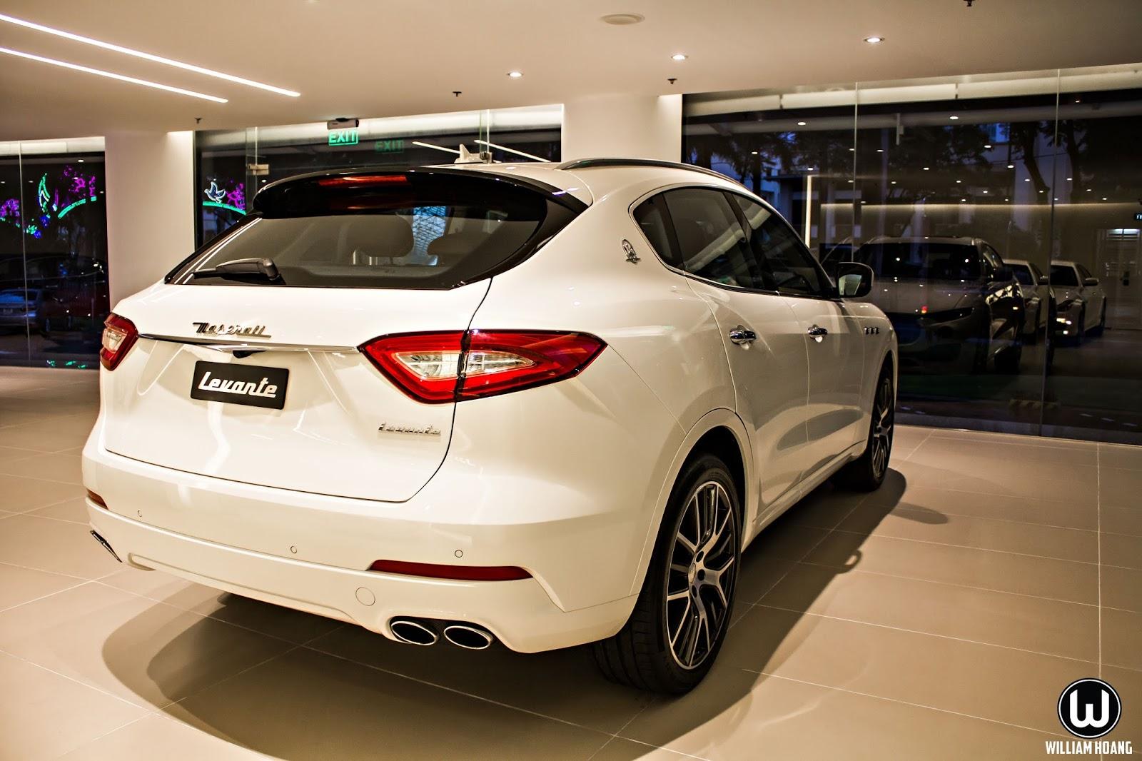 Maserati Levante sở hữu đuôi xe gọn gàng, gợi cảm với nhiều đường cong
