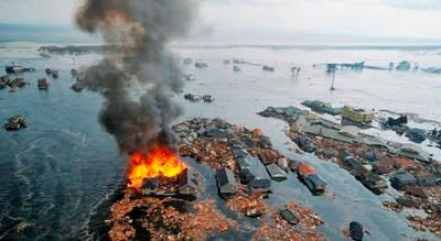 foto dan video tsunami di jepang
