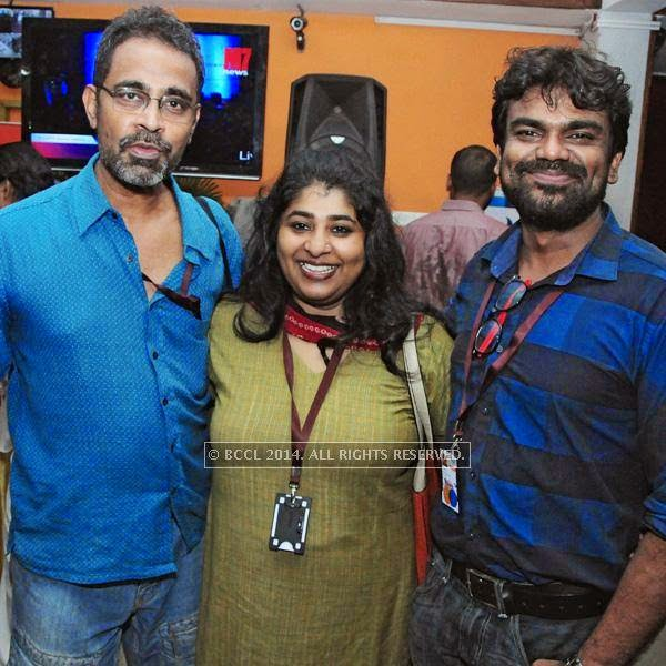 R V Ramani, Latha Kurian and Sohanlal during the International Documentary and Short Film Festival, held at Trivandrum.