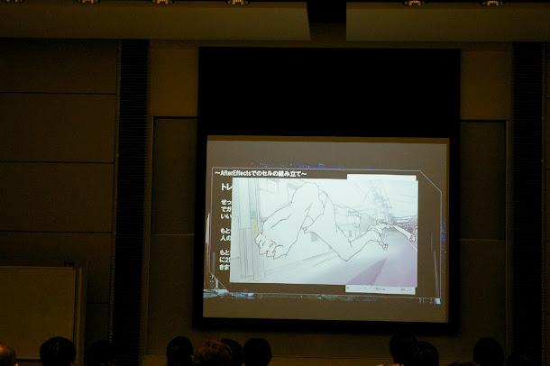 手描きセルアニメによる同じシーン