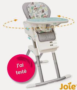 Test chaise-haute Mimzy 360 de Joie