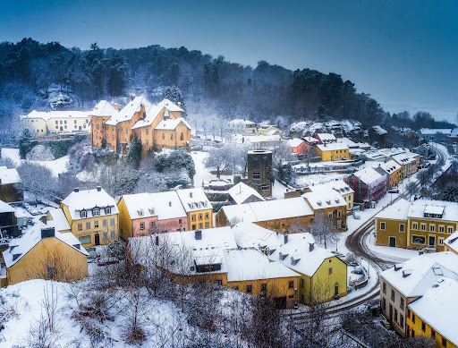 Snowy winter day today in Luxembourg