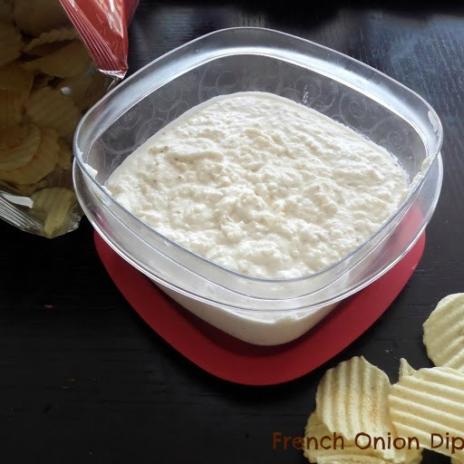 French Onion Dip:  A slightly beefy, very oniony, sour cream dip perfect for gameday snacking (or any day).