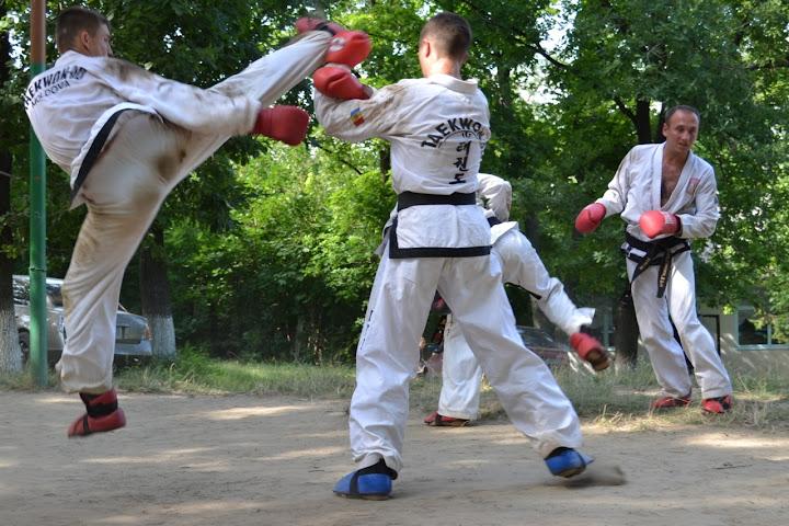 Taekwon-Do training in Moldova, summer 2011
