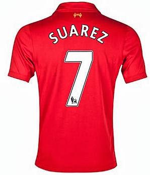 Luis Suarez Shirt 2014