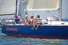J/133 sailing start of Vineyard sailboat race