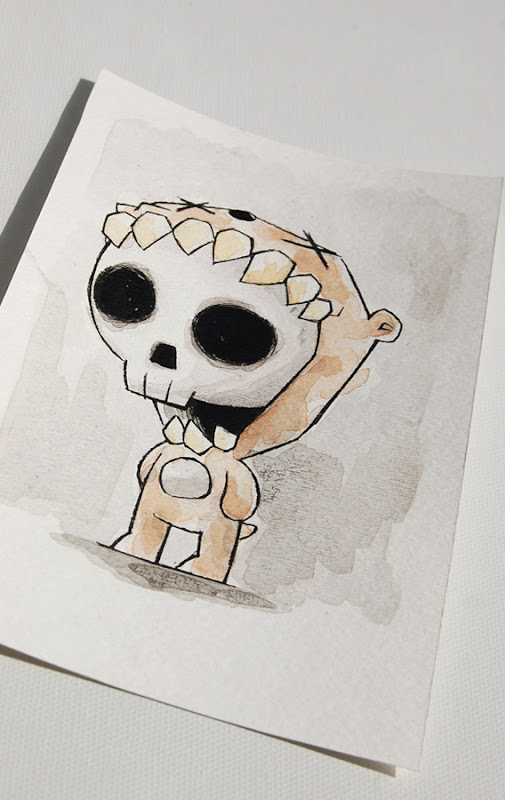 skull bear, skeleton bear art, akumu ink art, kawaii goth, skull art, skeleton art, emo art, goth watercolor, nightmare art, artist alley sketch, comicon art, cute scary art