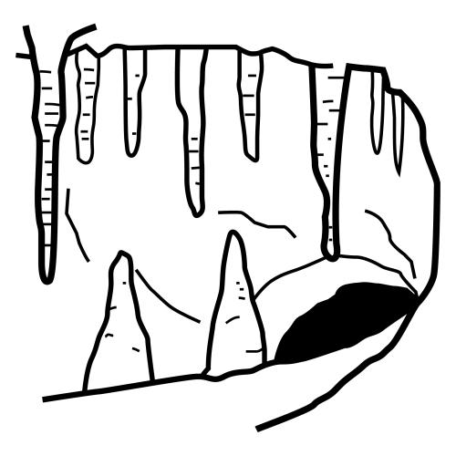 Cavernas para colorear - Imagui