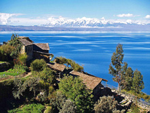 Great sailing on lakes and bays in Chile with Andes Mountains as backdrop