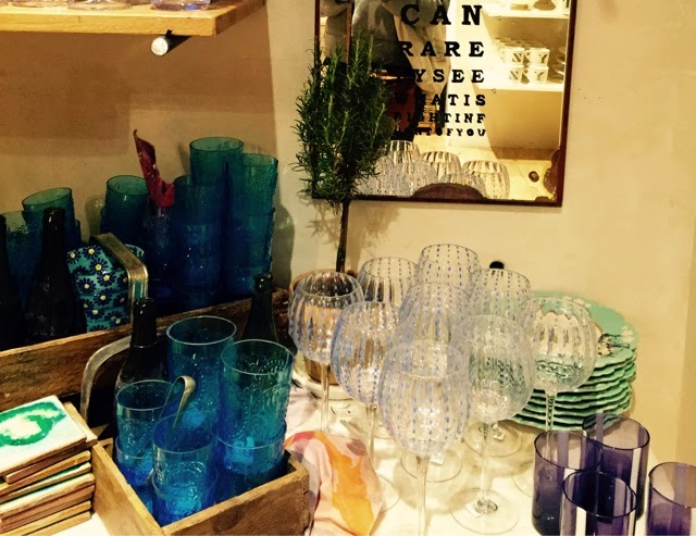 anthropologie, glassware