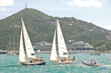 sailboats sailing Carlos Aguilar match race- st thomas, usvi
