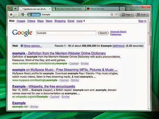 Mockup de Firefox 4.0: pestañas arriba