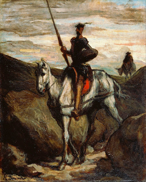 Honoré Daumier - Don Quixote in the Mountains - Google Art Project