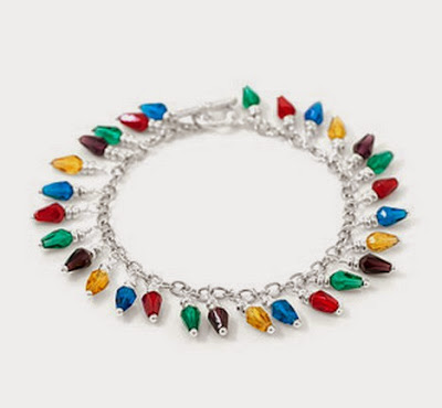 Lights of Christmas Bracelet by Fusionbeads.com