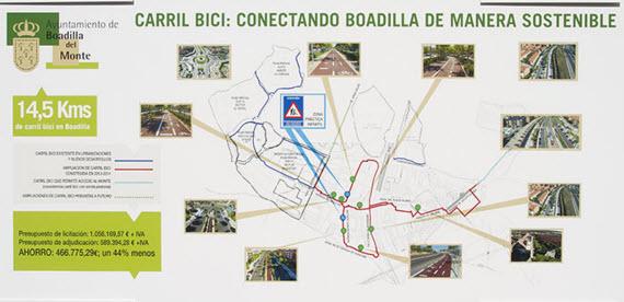 Nuevo carril bici en Boadilla del Monte - pincha para ampliar el plano